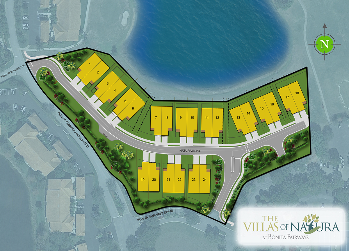 The Villas of Natura at Bonita Fairways Site Plan